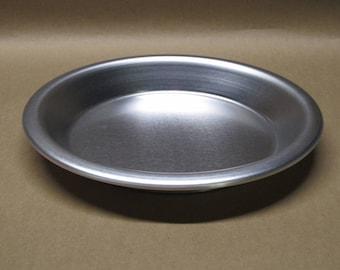 """Pie Pan 8"""" Inch Aluminum Seamless Hand Spun, Handmade, New, Metal Spinning,"""