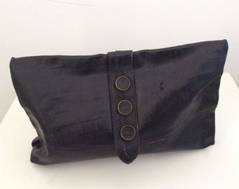 Purse bag Clutch handbag black leather Handbag