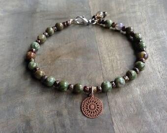 Rhyolite bohemian bracelet boho chic bracelet hippie bracelet womens jewelry boho jewelry boho bracelet boho chic jewelry bohemian jewelry