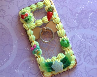 Samsung S6 Case | Kawaii | Decoden | Green | Ring Holder
