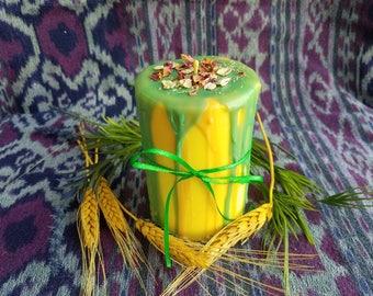 Lughnasadh Soy Pillar Candle - Pagan Festival Candle