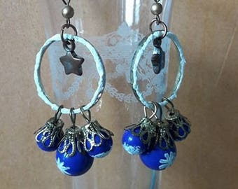 "Earrings long ""Let it snow"""