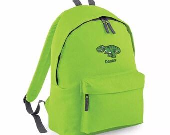 Personalised Embroidered Rucksack, Backpack, Dinosaur, Back to School, Nursery, Personalised Bag