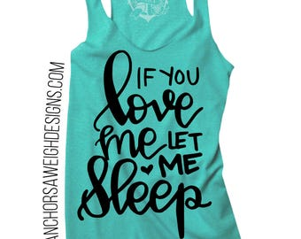Let Me Sleep Tri-blend Racerback