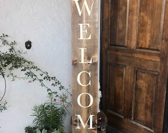 Personalized Custom Family Name Wood Porch Welcome Sign