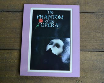 1989 The Phantom of the Opera Post Card turned Wall Art Dewynters London Awesome Vintage