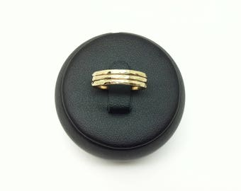 Trio of gold 14 k gold filled ring made entirely by hand