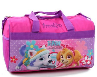 "Personalized Paw Patrol Kids Travel Duffel Bag - 18"" (Girls)"
