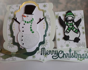 3D Multi Level Christmas Card, Layered Christmas Card, Luxury Christmas Card, Handmade Christmas Card