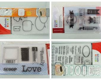 Tampons silicone stamp Cadre Bulles Textes Love pour scrapbooking album photo carterie Etiquette rangement classeur Artemio mod au choix