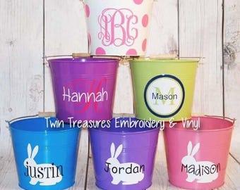 Custom Personalized Easter Bucket