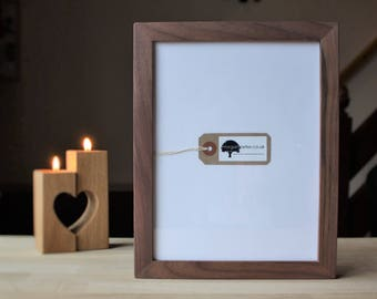 Wood photo frames - Walnut wooden photo frames in 7x9 8x10 A4 morganpeterframe