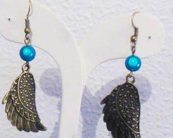 Bronze wings earrings