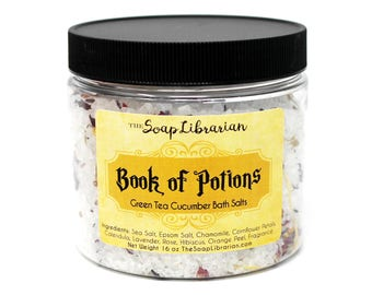 Book of Potions Bath Salts - Book Lovers Gift - Natural Bath Soak