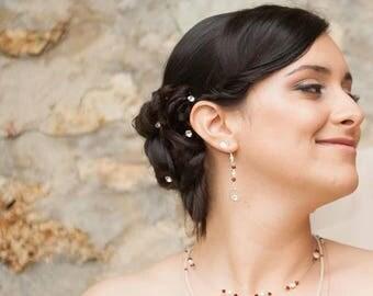 5 hair pins, set of 5 bridal rhinestone hair barrette
