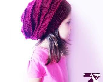 Crochet Beret, Parisienne French Hat, Beanie Slouchy Bohemian hat, knit beret, Cozy Chemo Hat, Winter Fashion Hat, kids hat