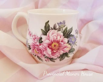 Beautiful floral tea cup, fine bone china, made in England Allyn Nelson Collection