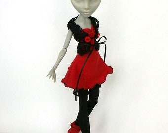 Monster High clothes, Mh outfit, mh clothes, monster doll dress, Monster doll clothes, long dress for mh, handmade.