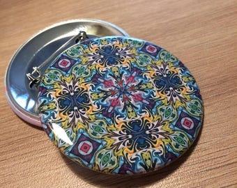 Badge metal //motif 56mm