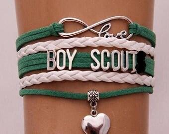 Boy Scout Adjustable Wrap Bracelet