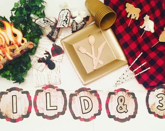 Wild & 30 in the Woods;Lumberjack party; Lumberjack Decor; Lumberjack birthday; Woodland decor; Woodland Birthday; Woodland party;
