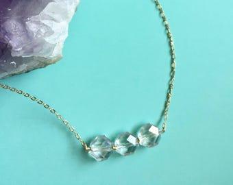 Czech glass choker necklace/ boho choker necklace/ beaded choker necklace