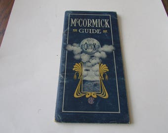 Vintage McCormick Guide Catalog No. 34 Farm Machinery 1920's