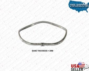 Fancy Diamond Wavy Slip On Bangle Bracelet Sterling Silver Custom Made, Different Look Bracelet,Black Bracelet, Diamond Findings, Different