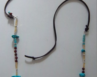 Southwestern Spirit - Beaded Necklace with Cording