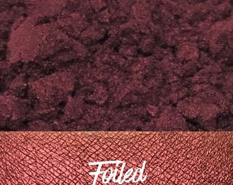 Foiled, Metallic Red Orange Loose Pigment 10 gram jar, Mineral Eye shadow Pigment