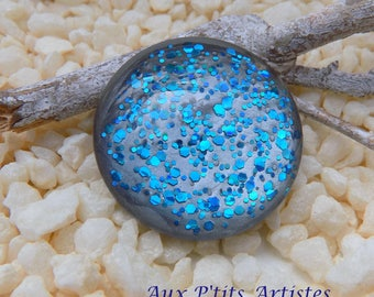 hand painted 25 mm glass cabochon