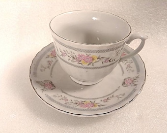 Vintage Teacup and Saucer Set made in China
