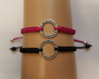 Couples Trust Love Dream Hope bracelet set - trust bracelet - love bracelet - hope bracelet - couples bracelets - couples gift - bracelet