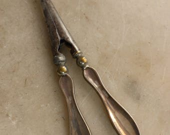 Antique solid silver glove stretchers WV&S