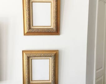 Pair of Vintage Gold Gild Picture Frames for 8 x 10 Pictures