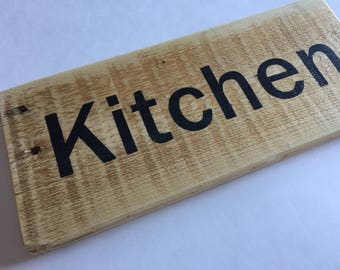 Kitchen - Reclaimed Wood Sign