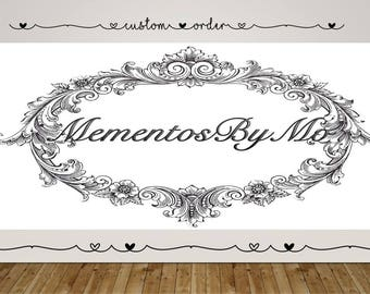 Custom Order - MementosByMo - Etsy - Handmade - Shop Small - Support Local - Hand Crafted - Made with Love - Special Occassions - Gifts -