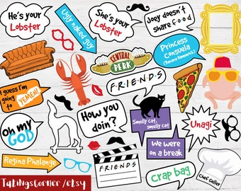 Friends Photo Booth - Friends Birthday - Friends photo props - Friends party props - Friends - Friends TV show - Friends TV - Friends props