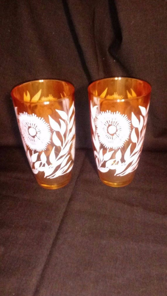Set of 2 12 Oz Flat Marigold Tumbler in Cosmos by Jeannette