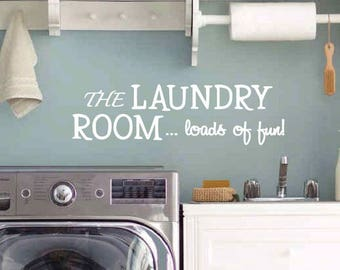 Laundry Room Wall Decal | Laundry Room Decor | Laundry Room Sign | Laundry  Sign | Part 75