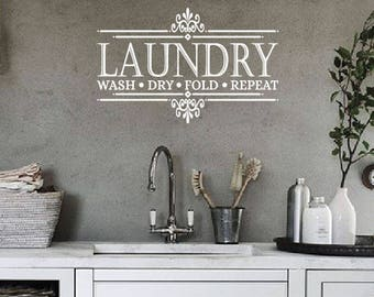 laundry room wall decal laundry room decor laundry room sign laundry sign - Laundry Room Decor