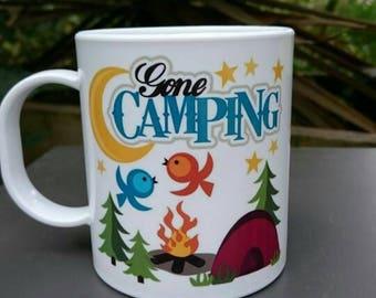 Gone Camping Plastic Mug - Caravan,  Motorhome