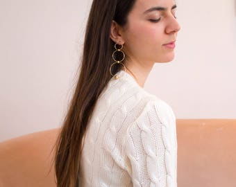 the plait in Off White -knitted sweater (braid cable plait wool mix pullover)