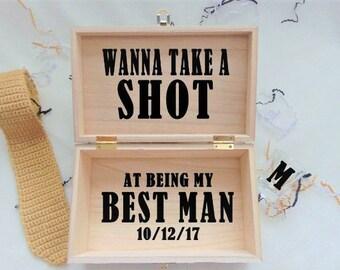 Best Man Proposal-Best Man Gift-Wanna Take A Shot At Being My Best Man-Groomsman Proposal-Best Man Gift Ideas-Groomsman Gift-Bridal Party