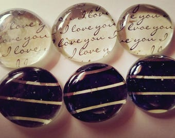 Love and Romance marble magnets