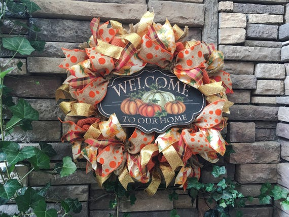 Fall Wreath, Fall Decoration, Fall Decor, Autumn Wreath, Thanksgiving Wreath, Harvest Wreath, Wreath for Fall, Burlap Fall Wreath, Wreaths