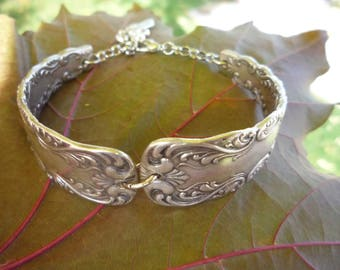 "Double Bracelet made from the ""Portland"" Pattern International Silver Co."