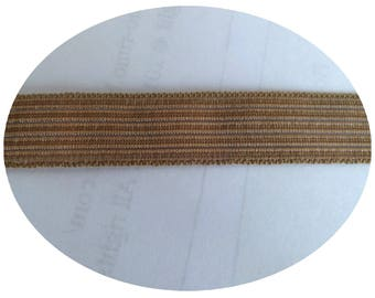 Sets of 3 meters of soft elastic width 2 cm of Brown