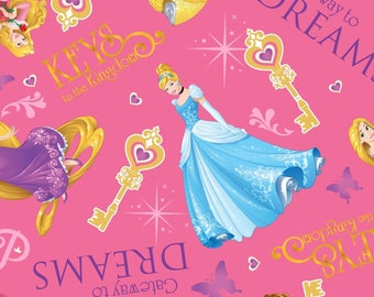 Disney Princess Gateway To Dreams Premium 100% Cotton fabric (SC237)