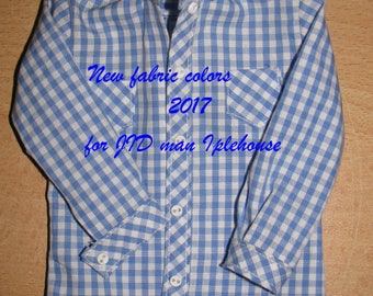 """BJD Clothes msd  Shirt with long or short sleeves  """"Vichy"""" for  JID boy Iplehouse"""